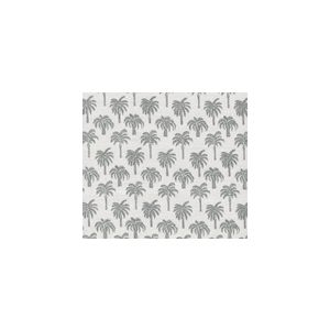 814-08 ISLAND PALM Grey Quadrille Fabric