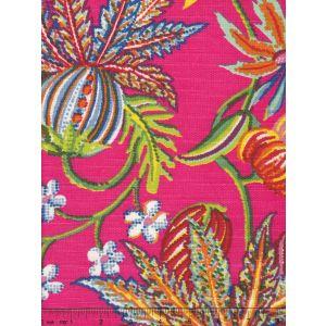 301592F JACARANDA Multi on Magenta Quadrille Fabric