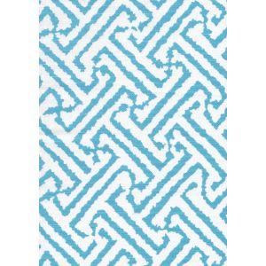 6620-02W JAVA GRANDE New Blue on White Quadrille Fabric