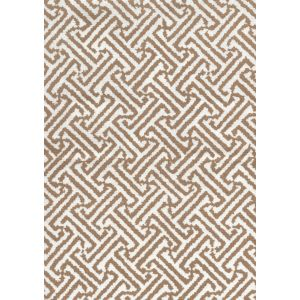 3080-01 JAVA JAVA Camel on White Linen Quadrille Fabric