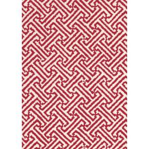 4010-21 JAVA JAVA Dark Red on Tinted Linen Cotton Quadrille Fabric