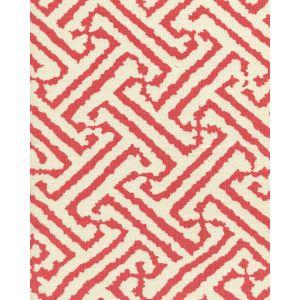 6620-06 JAVA GRANDE New Shrimp on Tint Quadrille Fabric