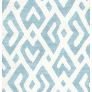 AC115-04 JUAN LES PINS Bali Blue on Tint Quadrille Fabric