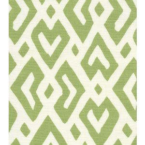 AC115-03 JUAN LES PINS Jungle Green on Tint Quadrille Fabric
