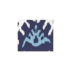 302830U KAZAK Blues on White Suncloth Quadrille Fabric