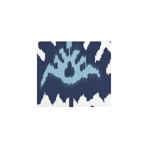 302830U-05W KAZAK New Navy Denim Blue on White Suncloth Quadrille Fabric