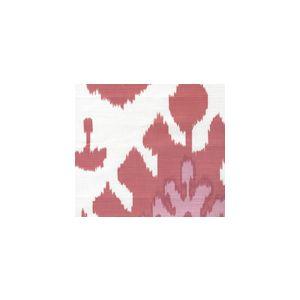 302830U-06W KAZAK Orange Pink on White Suncloth Quadrille Fabric