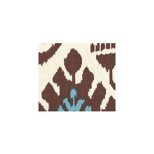 302830U-04 KAZAK Tobacco French Blue on Vellum Quadrille Fabric