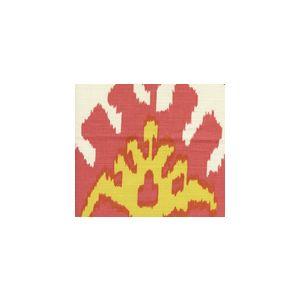 302830U-02 KAZAK Coral New Yellow on Suncloth Quadrille Fabric
