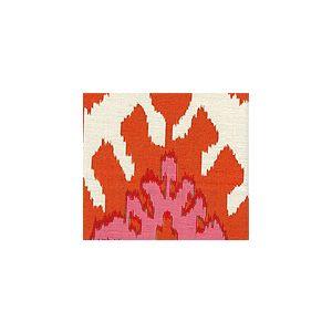 302830U-03 KAZAK Orange Pale Magenta on Suncloth Quadrille Fabric