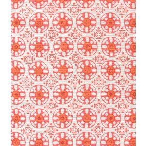 8170-08 KEDIRI BATIK Bright Orange Orange Brick Quadrille Fabric
