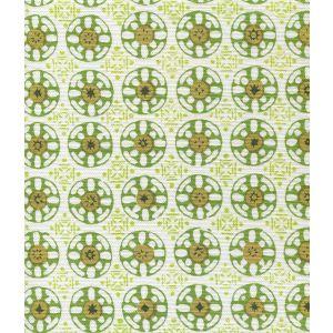 8170-09 KEDIRI BATIK Jungle Lime Avocado Dark Green Quadrille Fabric