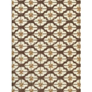 7135-09 KYOTO TWO COLORS Brown Camel on Tinted Linen Quadrille Fabric