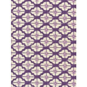 7135-07 KYOTO TWO COLORS Purple Lilac on Tinted Linen Quadrille Fabric