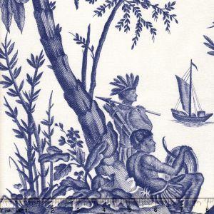 1597-02 LAFAYETTE TOILE Bleu Quadrille Fabric