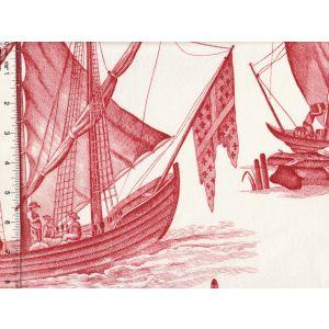 1597-03 LAFAYETTE TOILE Corail Quadrille Fabric