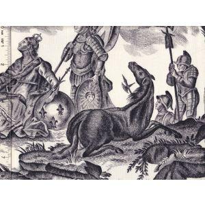 1597-05 LAFAYETTE TOILE Noir Quadrille Fabric