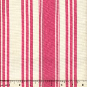 302743F LANE STRIPE Pink on Tint Quadrille Fabric