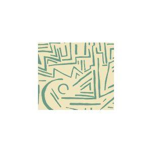 AC204-31 LASCAUX Turquoise on Tint Quadrille Fabric