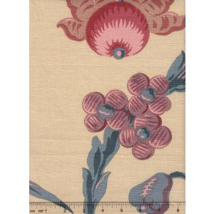 1716-02 LE NOTRE TOILE Bleu Rose Quadrille Fabric