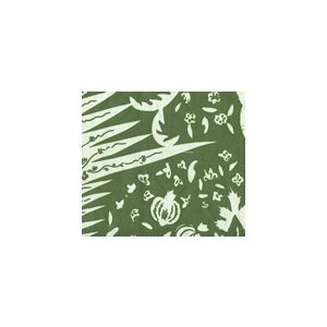 302663F LES INDIENNES Olive on Tint Quadrille Fabric