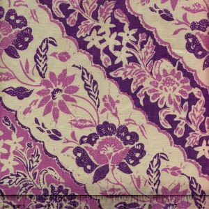 7810T-06 LIM DIAGONAL Lilac Purple on Tan Quadrille Fabric