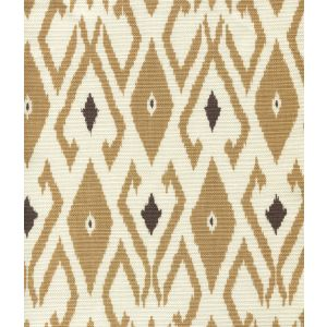 8080-02 LOCKAN Camel Brown on Tint Quadrille Fabric