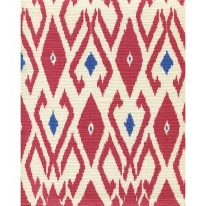 8080-08 LOCKAN Red Royal Blue on Tint Quadrille Fabric