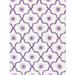 306320C-05CTT LONGFELLOW Purple Lilac on White Cotton Quadrille Fabric