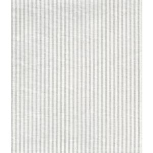 6930W-13 LULU STRIPE Soft Gray on White Linen Quadrille Fabric