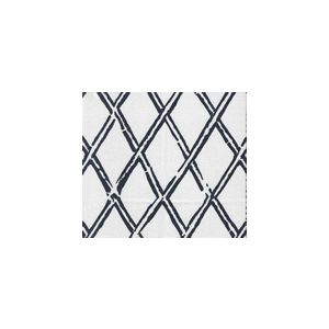 6710-02WSUN LYFORD DIAMOND BAMBOO Navy on White Quadrille Fabric
