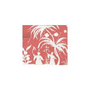 6600-12WSUN LYFORD PAGODA PETITE New Shrimp on White Quadrille Fabric
