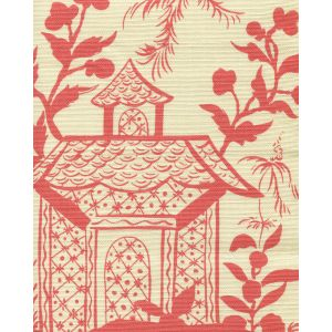 6600-12 LYFORD PAGODA PETITE New Shrimp on Tinted Quadrille Fabric