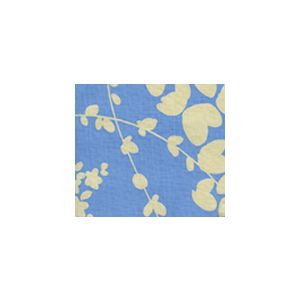 4101-09 LYSETTE REVERSE French Blue on Tan Quadrille Fabric