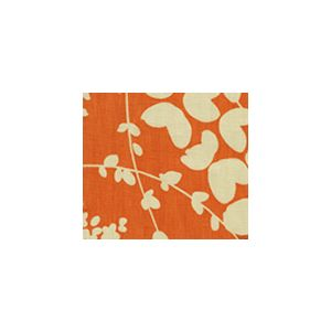 4101-04 LYSETTE REVERSE Orange on Tan Quadrille Fabric