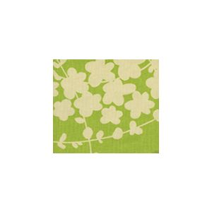 4101-03 LYSETTE REVERSE Palm Green on Tan Quadrille Fabric
