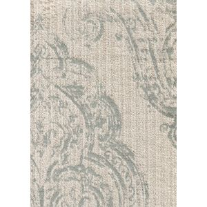 020250T-E MACEDONIA DAMASK Silver on Cotton Velvet Quadrille Fabric