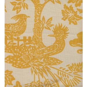302450T-02 MAGIC GARDEN Yellow on Tan Quadrille Fabric
