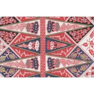 3060-02SUN MALAY STRIPE Watermelon on Suncloth Quadrille Fabric