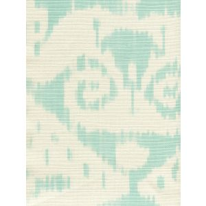 306044F MALAYA Pale Aqua on Tint Quadrille Fabric