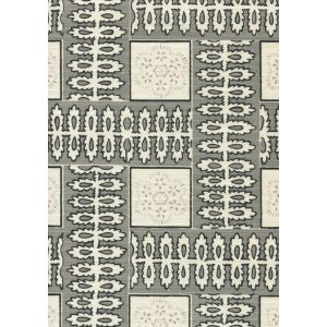 306281F MANCHESTER BY THE SEA Grey Ribbon Quadrille Fabric
