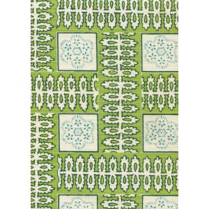 306284F MANCHESTER BY THE SEA Parrot Green Ribbon Quadrille Fabric