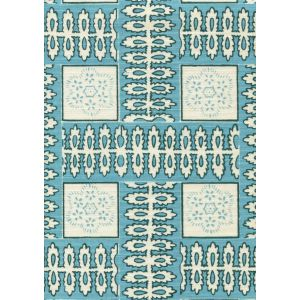 306285F MANCHESTER BY THE SEA Turquoise Ribbon Quadrille Fabric