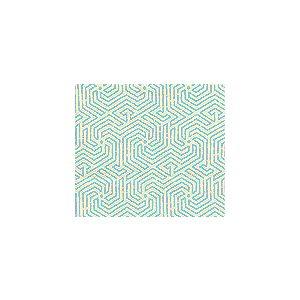 2510L-01 MAZE Turquoise on Tint Quadrille Fabric