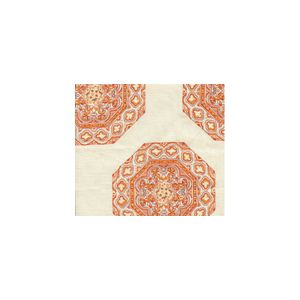 HC1700U-03 MEDALLION Melon Camel Quadrille Fabric