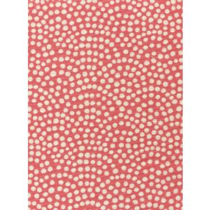 AC712-10 MOJAVE ONE COLOR REVERSE Coral on White Quadrille Fabric