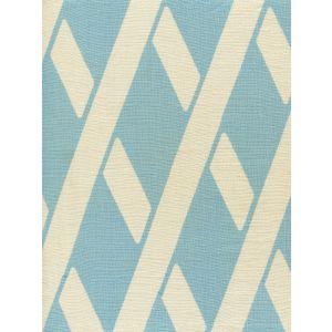CP1050-02 MONTECITO BAMBOO Turquoise on Tan Linen Quadrille Fabric