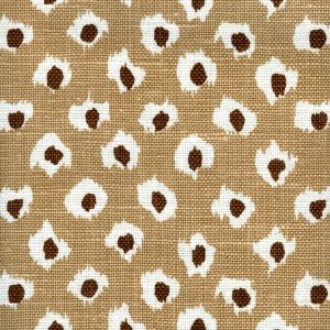 302271P MOROC Camel Brown on Oyster Quadrille Fabric