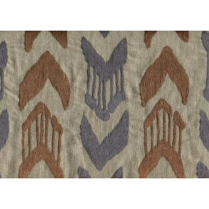 020240T-E MUMBAI IKAT Blue Brown Quadrille Fabric