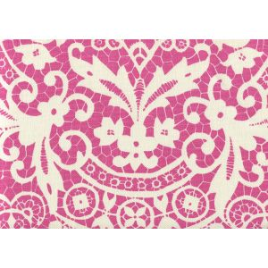AC870-05 NEW BROMPTON Pink on Tint Quadrille Fabric